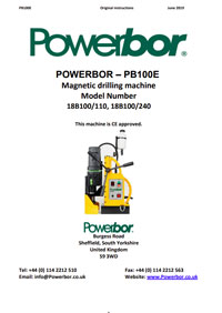 Powerbor 100E Owners Manual