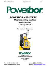 Powerbor PB100FRV Owners Manual