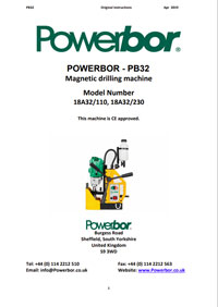Powerbor 32 Owners Manual