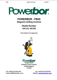 Powerbor 35 Owners Manual