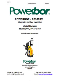 Powerbor PB35FRV Owners Manual
