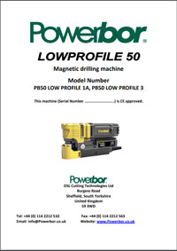 Powerbor LowProfile 50 Operators Manual