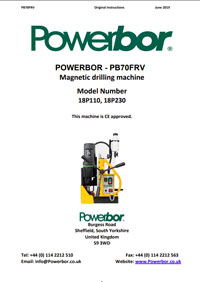 Powerbor 70 FRV Owners Manual