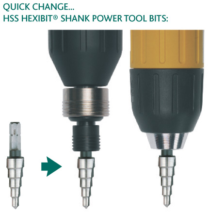 Quick Change HSS Hexibit Shank Power Tool Bits